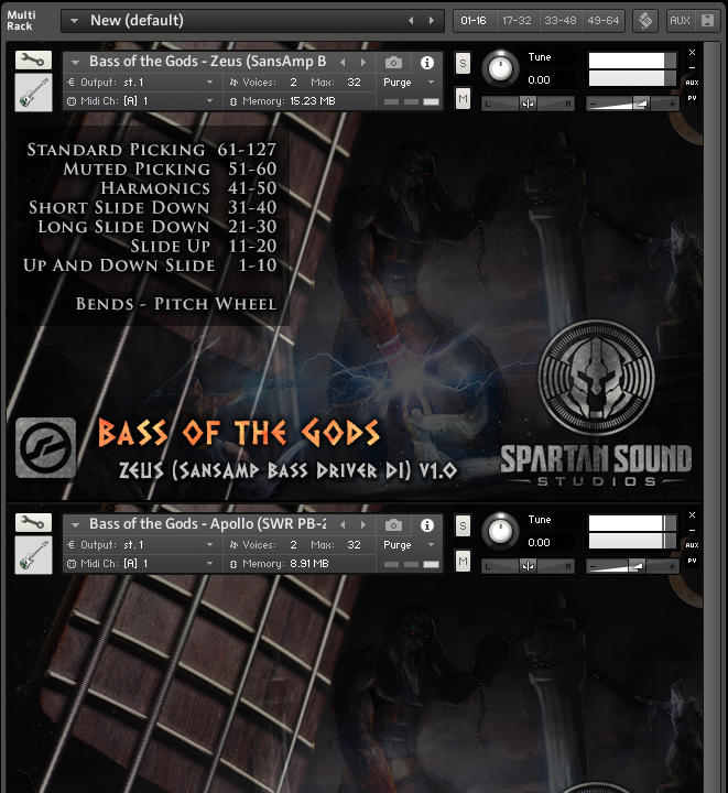 Bass of the Gods - The Ultimate Bass VST Virtual Instrument Sample Library for Kontakt
